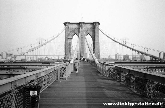 New York Manhattan Brooklyn Bridge 1992