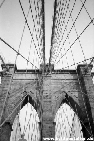 New York Manhattan Brooklyn Bridge 1992
