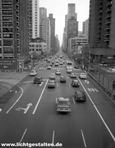 New York Manhattan Street Skyline 1994